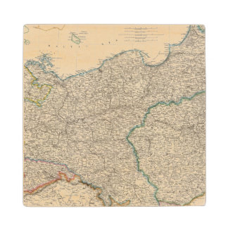 Prussia and Poland 2 Wood Coaster