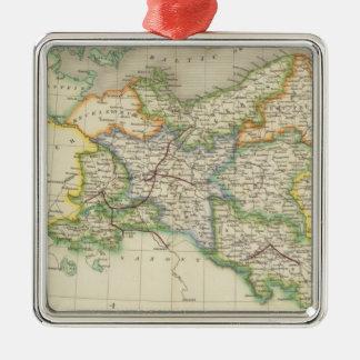 Prussia and Poland Silver-Colored Square Decoration