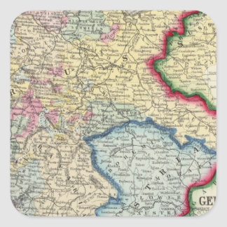 Prussia, And The German States Square Sticker