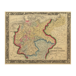 Prussia, And The German States Wood Canvases