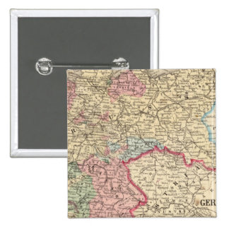 Prussia, German States Map by Mitchell 15 Cm Square Badge