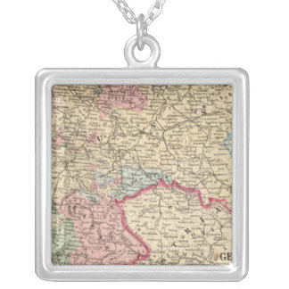Prussia, German States Map by Mitchell Silver Plated Necklace