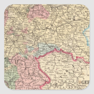 Prussia, German States Map by Mitchell Square Sticker