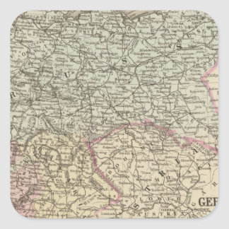 Prussia, German States Square Sticker
