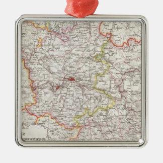 Prussia, Germany,  Poland Silver-Colored Square Decoration