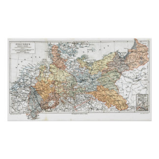 Prussia Map Poster