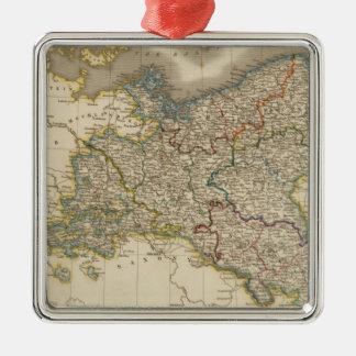 Prussia Silver-Colored Square Decoration