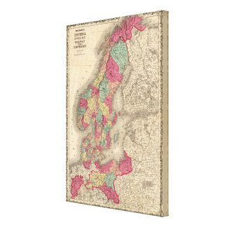 Prussia Sweden Norway and Denmark Canvas Print