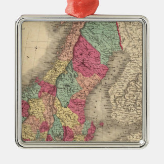 Prussia Sweden Norway and Denmark Silver-Colored Square Decoration