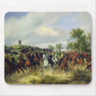 Prussian cavalry on expedition, c.19th mouse pad