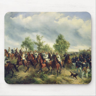 Prussian cavalry on expedition mousepad
