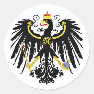 Prussian Eagle - Flagge Preußens - Reichsadle Classic Round Sticker