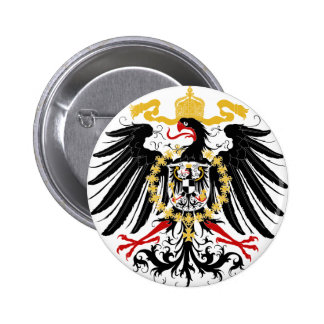 Prussian Eagle Red Black and Gold 6 Cm Round Badge
