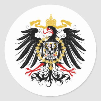 Prussian Eagle Red Black and Gold Classic Round Sticker