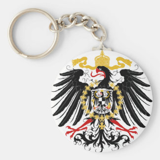 Prussian Eagle Red Black and Gold Key Ring