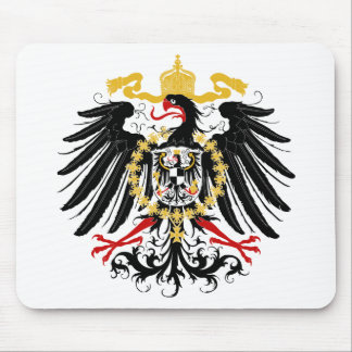 Prussian Eagle Red Black and Gold Mouse Mat