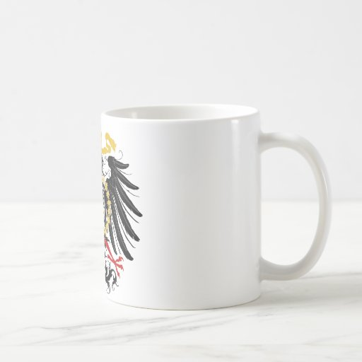 Prussian Eagle Red Black and Gold Coffee Mugs