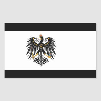 Prussian Flag Rectangular Sticker