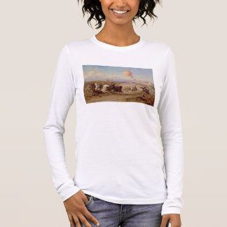 Prussian Hussars firing at a French Observation Ba Long Sleeve T-Shirt