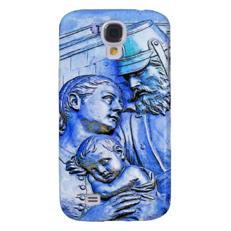 Prussian Soldier Woman and Baby Blue Tint Galaxy S4 Cases