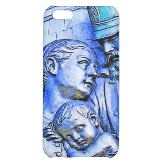 Prussian Soldier Woman and Baby Blue Tint iPhone 5C Covers