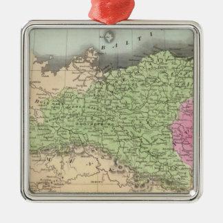 Prussian States 2 Silver-Colored Square Decoration