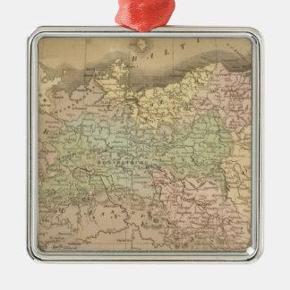 Prussian States Silver-Colored Square Decoration