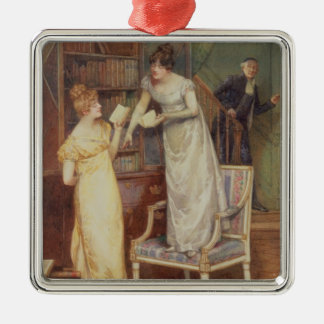 Prying Eyes, 1901 (w/c heightened with white) Christmas Ornament