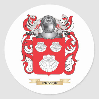 Pryor Coat of Arms (Family Crest) Round Sticker