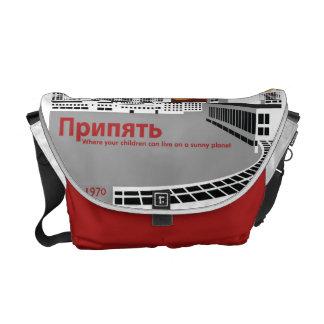 Prypyat Propaganda style Messenger Bags