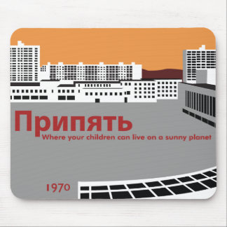 Prypyat Propaganda style Mouse Mat
