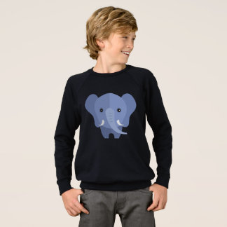 ps063 cute elephant sweatshirt