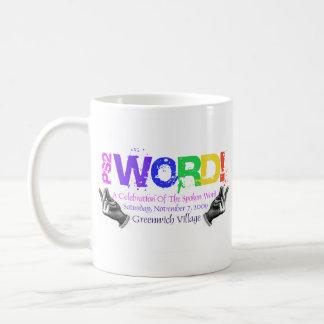 PS2 WORD! COFFEE BASIC WHITE MUG