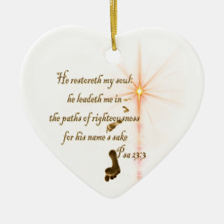 Psa 23.3 The Lord is my shepard Christmas Ornament