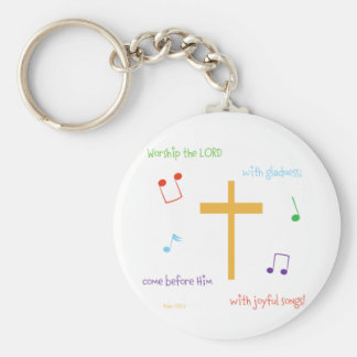 Psalm 100:2 key ring