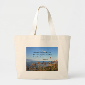 Psalm 103:2 Let all that I am praise the Lord... Jumbo Tote Bag