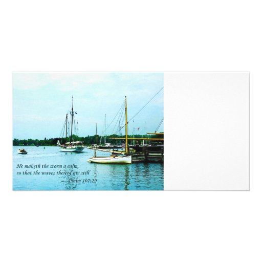 Psalm 107:29 He maketh the storm a calm Customized Photo Card