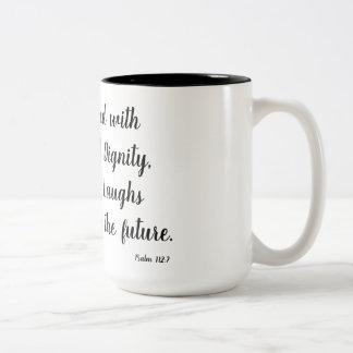 Psalm 112:7 Two-Tone coffee mug