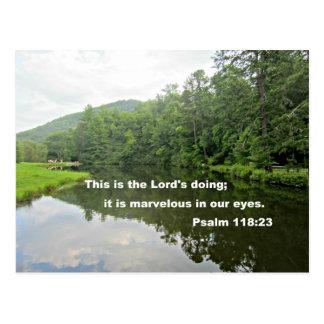 Psalm 118 23 postcards