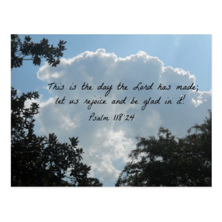 Psalm 118:24 This is the day the Lord... Postcard