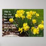 Psalm 118 Daffodil Poster