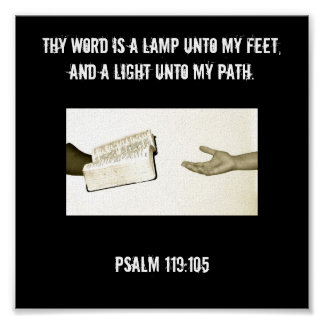 Psalm 119:105 Canvas Poster