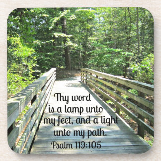 Psalm 119:105 Thy word is a lamp... Coasters