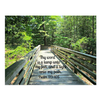 Psalm 119:105 Thy word is a lamp... Postcard
