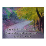 PSALM 119:105 THY WORD - LIGHT TO MY PATH - POSTCARD