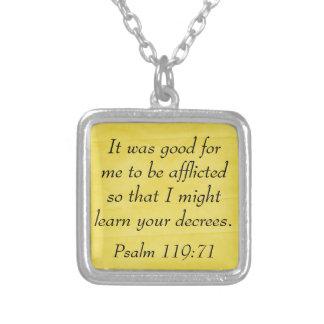 Psalm 119:71 bible verse jewelry