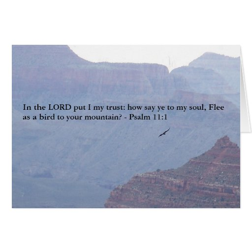 Psalm 11:1 Bible Verse In the Lord I Trust Card
