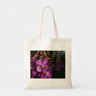 Psalm 120:1 Encouraging Scripture Floral Tote Bag