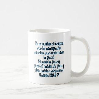 Psalm 120:6-7 coffee mug