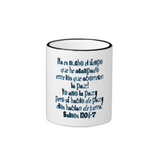 Psalm 120:6-7 ringer mug